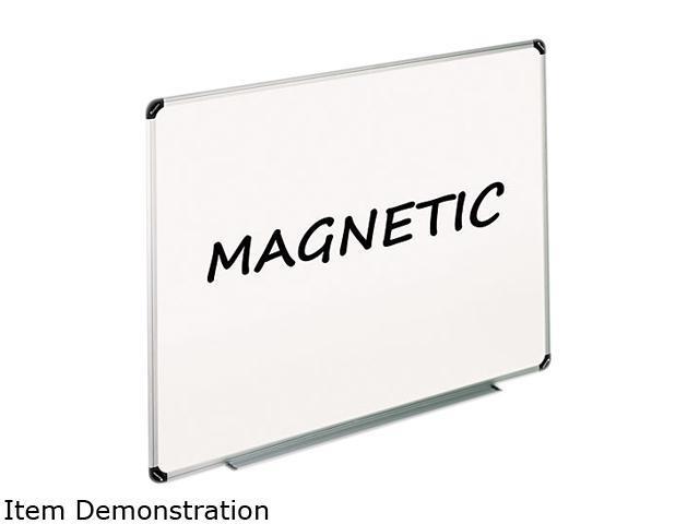 Universal 43732 Magnetic Dry Erase Board  Melamine  24 x 18  White  Aluminum/Plastic Frame