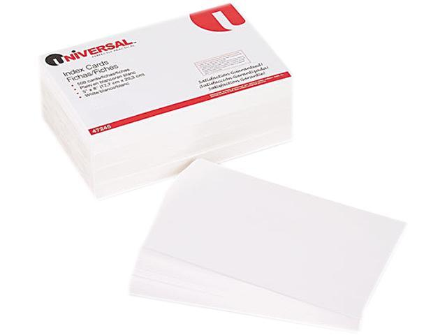 Universal 47245 Unruled Index Cards  5 x 8  White  100 per Pack