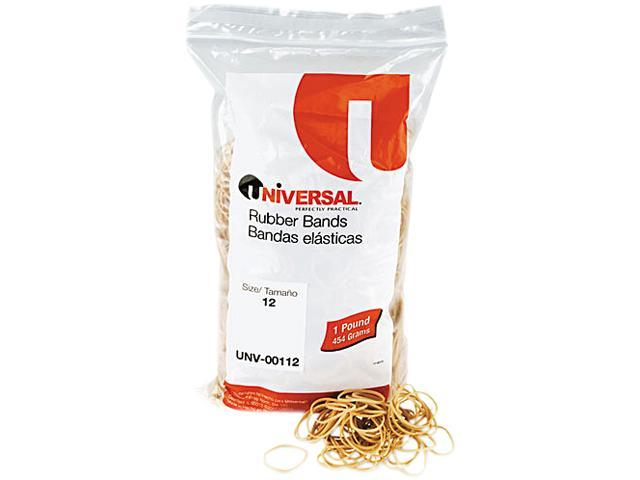 Universal 00112 Rubber Bands- Size 12- 1-3/4 x 1/16- 2580 Bands/1lb Pack