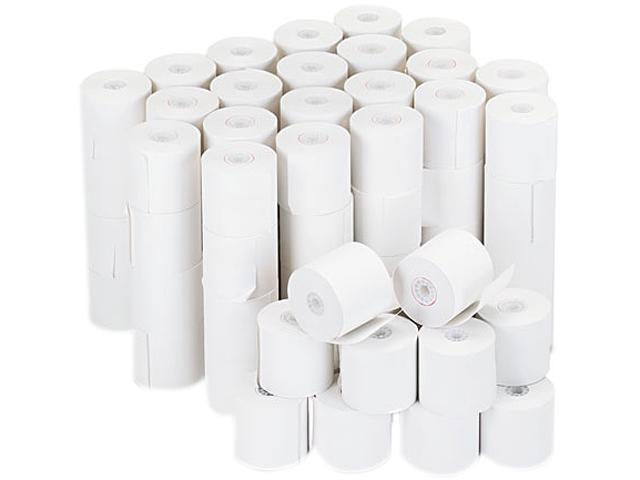 Universal 35705 Adding Machine/Calculator Roll, 16 lb, 1/2'' Core, 2-1/4'' x 126 ft,White, 100/CT