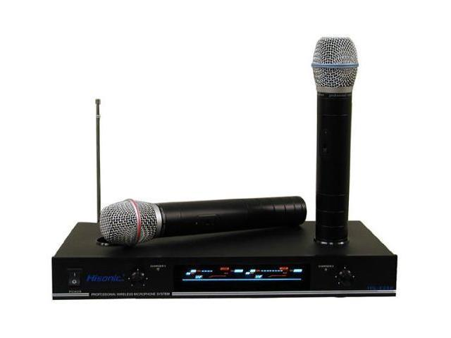 Hisonic HS8286 Dual VHF Rechargeable Wireless Microphone System