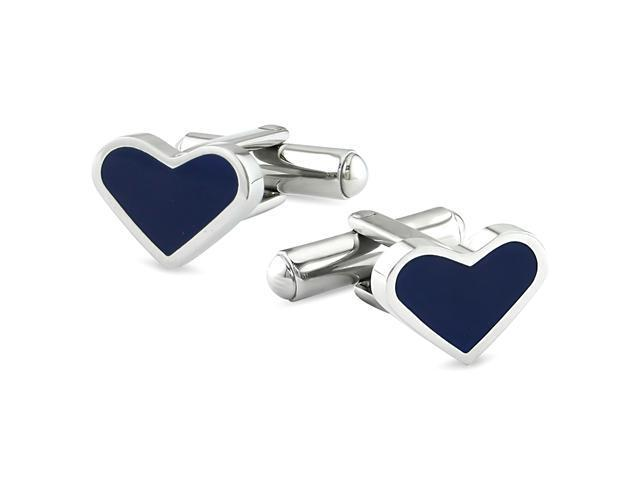Stainless steel Heart-Shape Cufflink