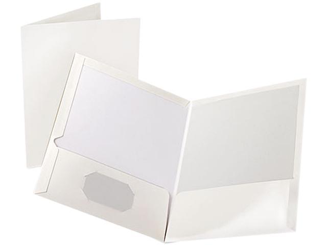 Tops Pendaflex 51704 High Gloss Laminated Paperboard Folder, 100-Sheet Capacity, White, 25/Box