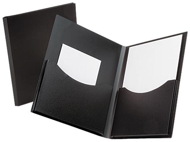 Tops Pendaflex 57454 Double Stuff Gusseted 2-Pocket Polypropylene Folder, 200-Sheet Capacity Black