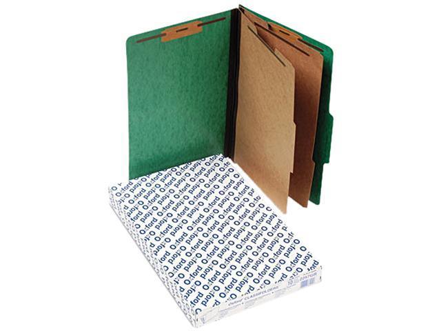Tops Pendaflex 2257GR Pressguard Glassification Folders  Legal  6-Section  Green  10/box