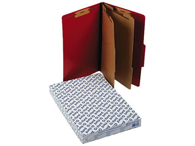 Tops Pendaflex 2257SC Pressguard Classification Folders  Lgl  6-Section  Scarlet  10/box