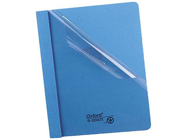 Tops Pendaflex 55801 Clear Front Report Cover  Tang Clip  Letter  1/2   Capacity  Blue  25 per Box
