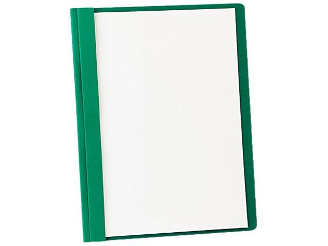 Tops Pendaflex 55856 Clear Front Report Cover  Tang Clip  Letter  1/2   Capacity  Green  25 per Box