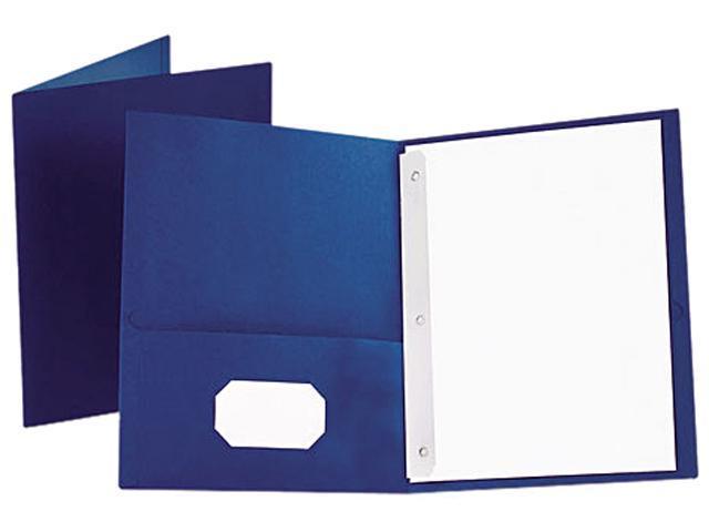 Tops Pendaflex 57702 Twin-Pocket Portfolio  Tang Clip  Letter  1/2   Capacity  Royal Blue  25 per Box