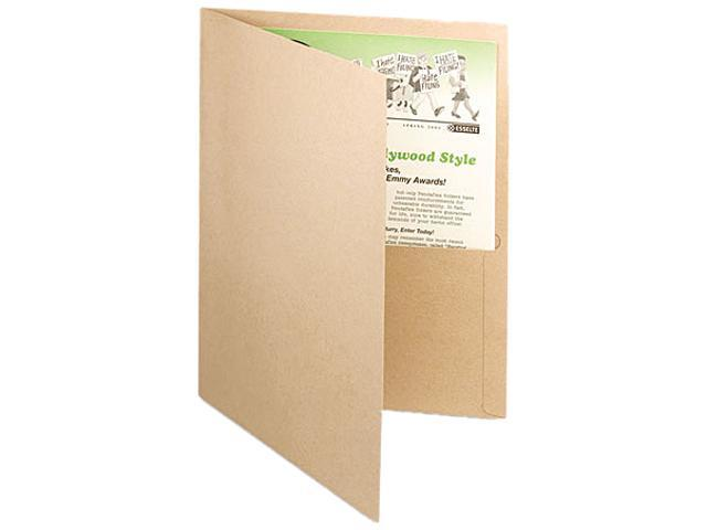 Tops Pendaflex 78542 Recycled Paper Twin-Pocket Portfolio  Natural