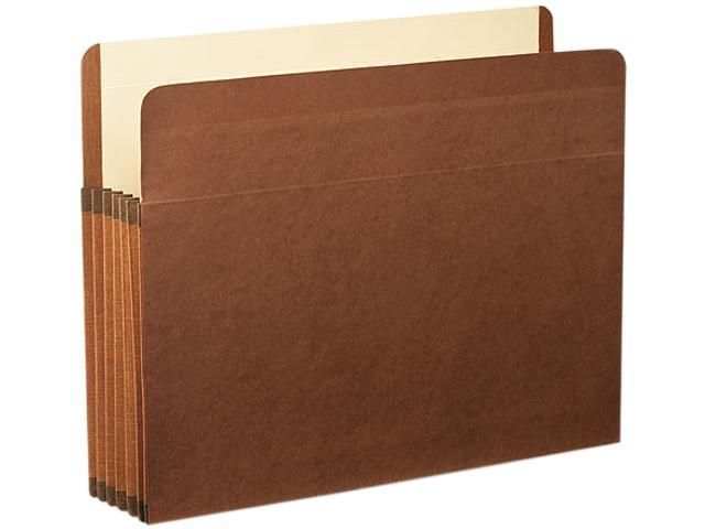 Premium Reinforced 5-Pocket Expanding File Pockets Straight Cut Letter Brown