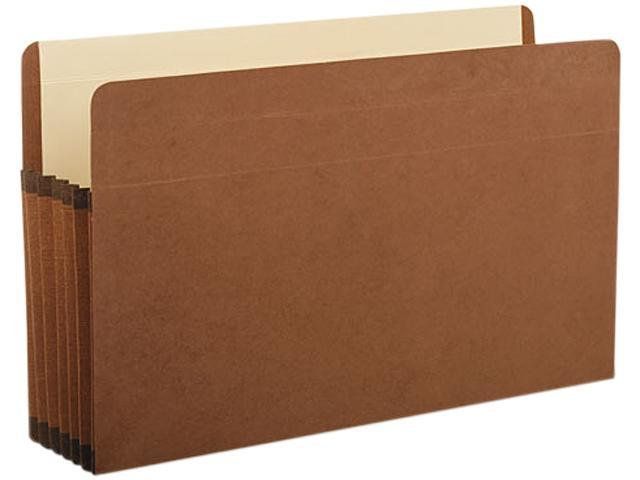 Premium Reinforced Expanding File Pockets Straight Cut 1 Pocket Legal Brown