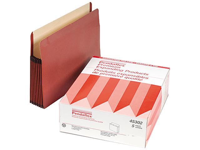Tops Pendaflex 45302 Watershed 7   Expansion File Pocket  Straight  Letter  Red  5/Box