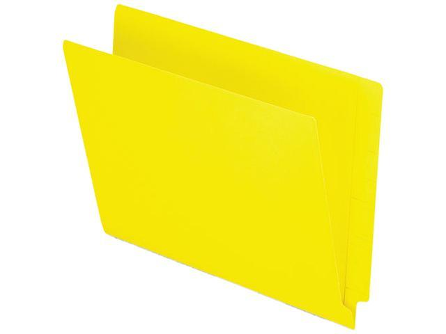 Tops Pendaflex H110DY Reinforced Two-Ply Folders  Straight Cut  End Tab  Letter  Yellow  100/Box