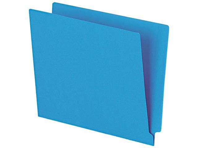 Tops Pendaflex H110DBL Reinforced Two-Ply Folders Straight Cut End Tab Letter Blue 100/Box