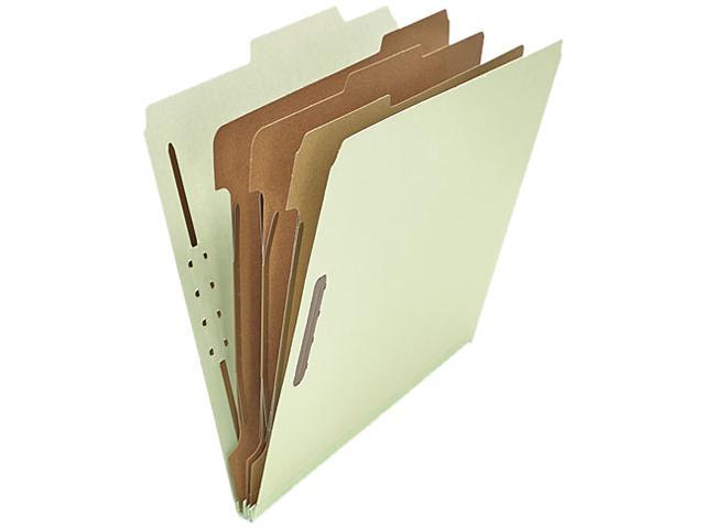 Universal 10293 Pressboard Classification Folder  Letter  8-Section  Gray-Green