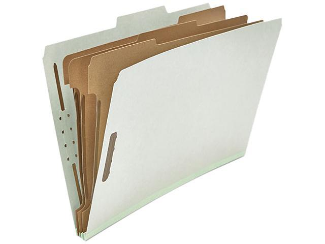 Universal 10297 Pressboard Classification Folder  Legal  8-Section  Gray