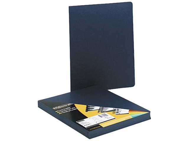 Fellowes 52145 Executive Presentation Binding System Covers- 11-1/4 x 8-3/4- Navy- 50/Pack