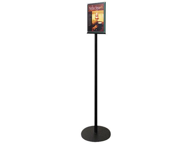 Deflect-O 692056 Double-Sided Magnetic Sign Stand, 8 1/2 x 11, 56'' High, Silver