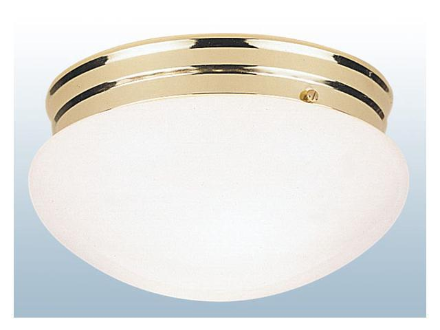 Flush Mount Ceiling Fixture Polished Brass/White ACE Ceiling Fixtures 66609