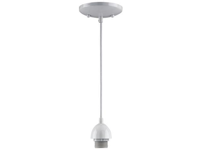 Kt Lt Pndt Incan E26 Med 60W Westinghouse Lighting Pendant 7028600 White Steel