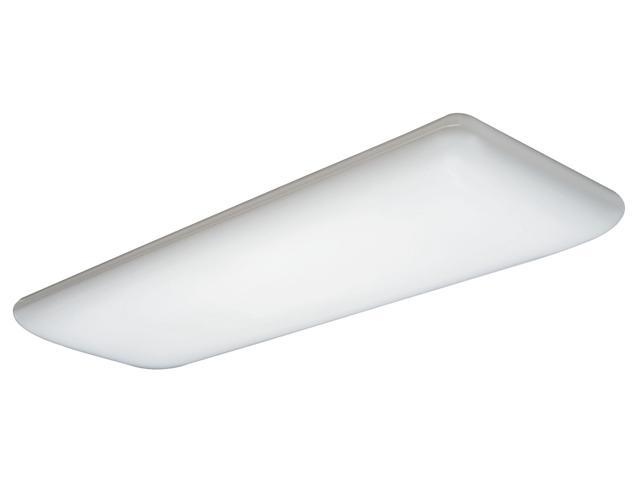 Lithonia Lighting White 4' White 4 Bulb T8 Fluorescent Ceiling Fixture