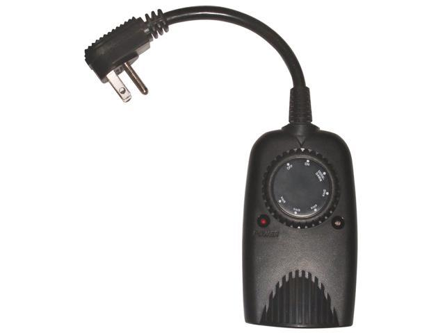Coleman Cable 2001 Black Outdoor Mechanical Timer With Photoelectric Eye