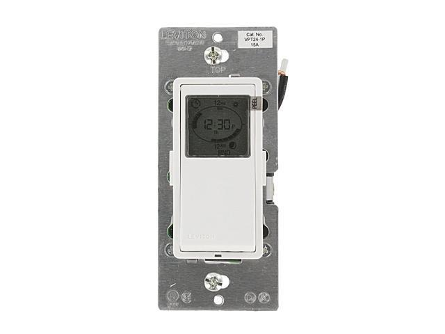 Leviton Vizia + 24 Hour Programmable Timer Wall Switch (VPT24-1PZ ...