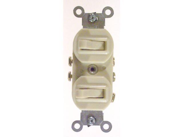 Leviton Commercial Grade 3-Way AC Combination Switch Toggle