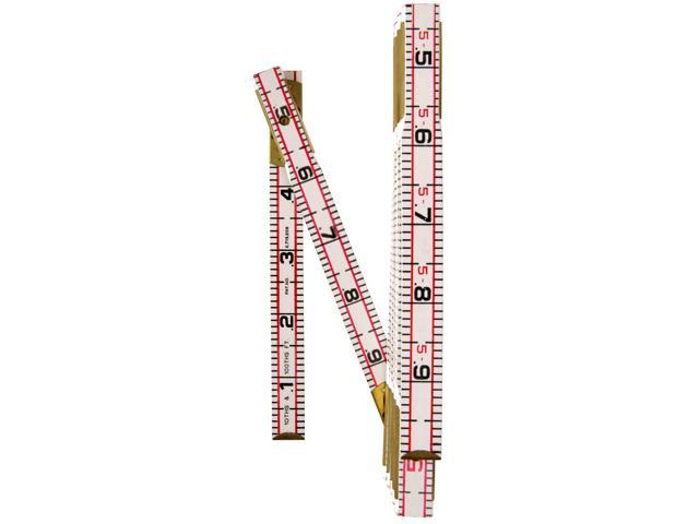 "Lufkin 1066D 6' X 5/8"" Engineer's Scale Wood Rule Red End®"
