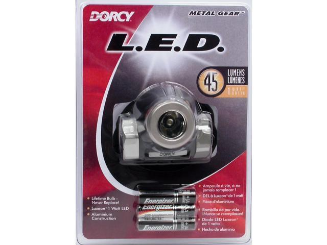 Dorcy 41-2091 AAA 45 Lumens Metal Gear Headlight