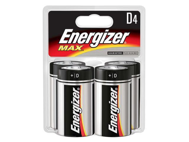 ENERGIZER                                4 Pack D Energizer® Max® Alkaline Batteries