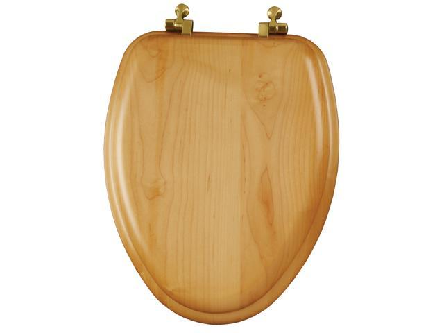 Mayfair 19601BR-378 Elongated Natural Oak Natural Reflections® Toilet Seat