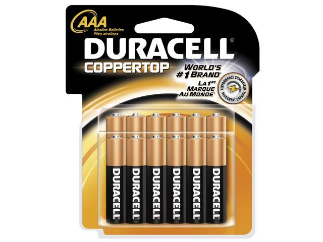 DURACELL   PROCTOR AND GAMBLE 12 Count AAA Cell Duracell® Coppertop Alkaline Batteries
