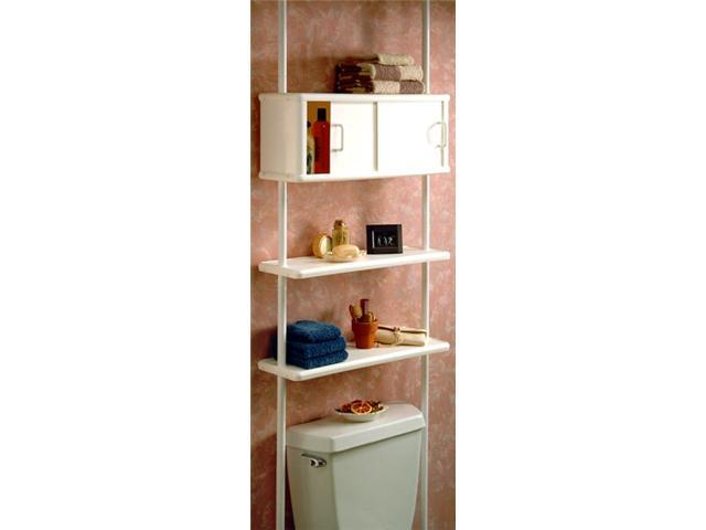 Zenith 2090W Two Tier Bathroom Space Saver Cabinet