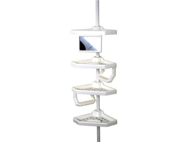 Zenith 5104W White Plastic 4 Shelf Pole Caddy