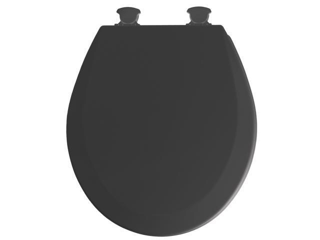 Mayfair 46ECDG-047 Black EZ Clean Round Toilet Seat