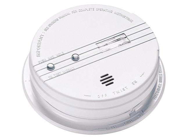 Kidde 21006379 AC Wire-In With Battery Backup Smoke Alarm With Exit Light