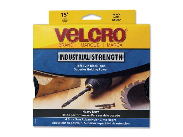 "Velcro 90197 2"" X 15' Black Industrial Strength Velcro® Sticky Back® Fasteners"