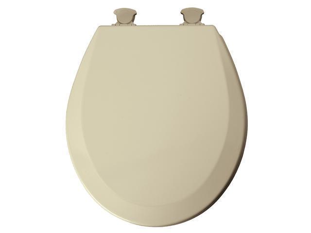 Mayfair 46ECDG-006 Bone EZ Clean Round Toilet Seat
