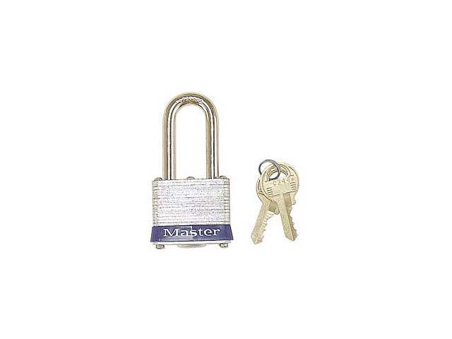 """Master Lock 3KALF 0344 1-1/2"""" No. 3 Long Shackle Laminated Padlock"""