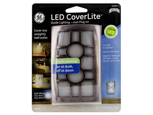 Jasco 11247 CoverLite LED Auto On and Off Night Light, Venetian Bronze