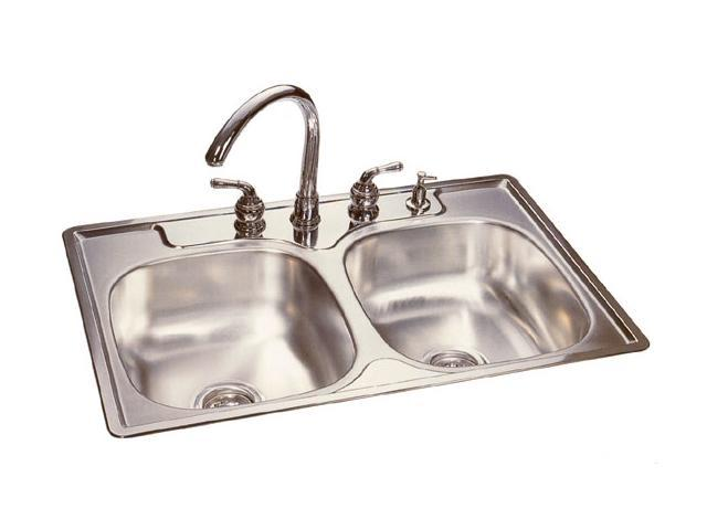 Kitchen Sink Metal : FHP FDG704N Stainless Steel Double Bowl Kitchen Sink - Newegg.com
