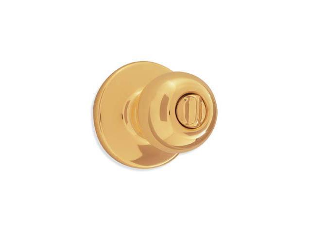Kwikset 93001-500 Polished Brass Polo Knob Privacy Set