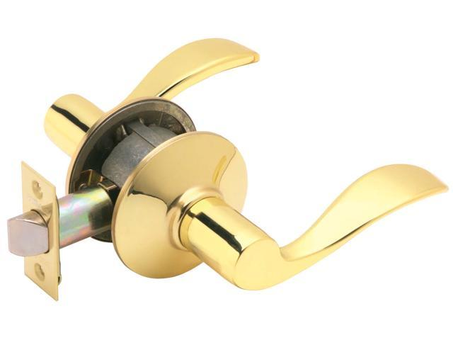 Schlage F10VACC605 Bright Brass Accent Lever Passage Set