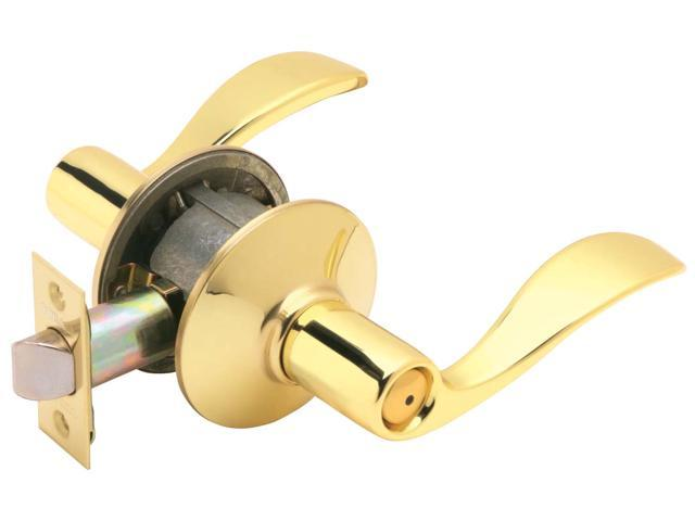 Schlage F40VACC605 Bright Brass Accent Lever Privacy Set
