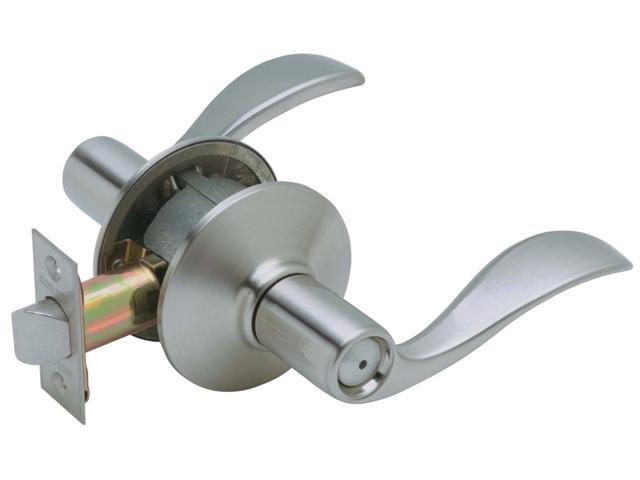 Schlage F40VACC619 Satin Nickel Accent Lever Privacy Set