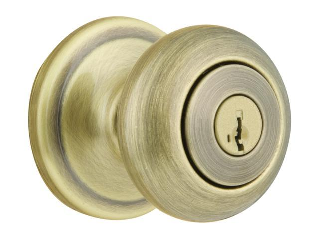 Kwikset Signature Series 97402-543 Antique Brass 4 Keyed Alike Juno™ Smartkey™ Entry Knob