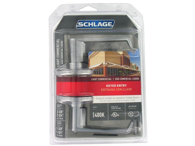 Schlage F51CSVELA626 Light Commercial Keyed Entry Lever