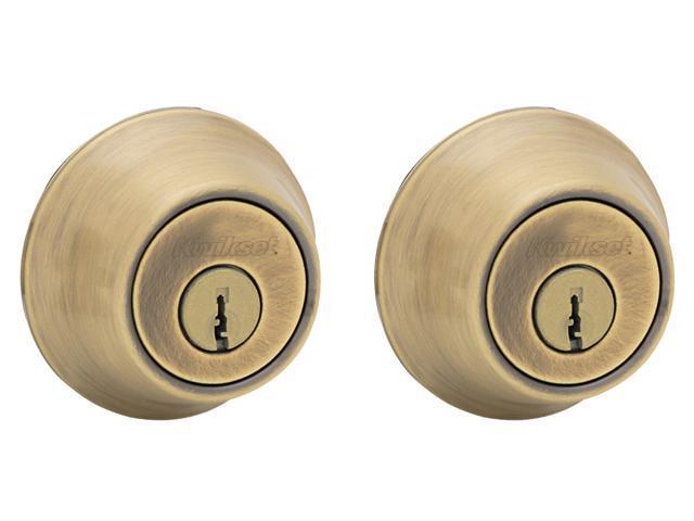 Kwikset 96650-391 Antique Brass Double Cylinder Deadbolt